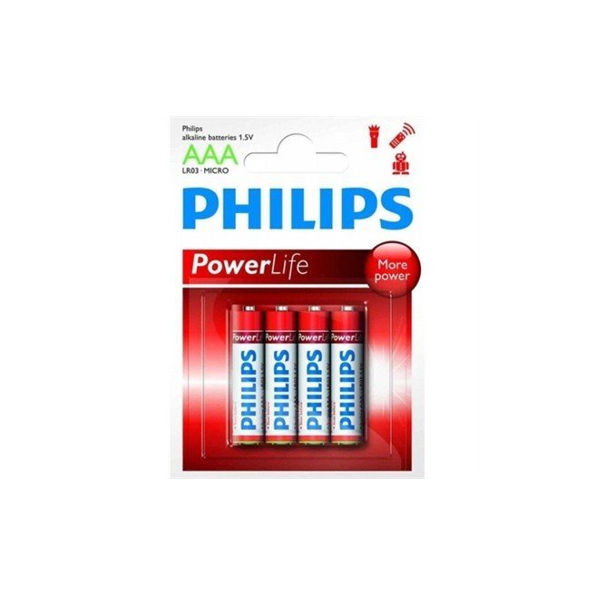 PHILIPS PILA ALCALINA LR03...